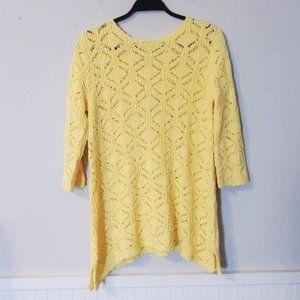 Chadwicks of Boston Yellow Crochet Sweater  NWOT
